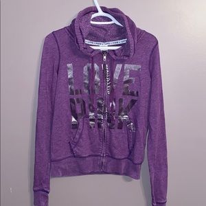 Victoria's Secret Pink Hoodie Bling old school S
